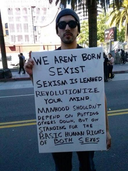 Men aren't born sexist