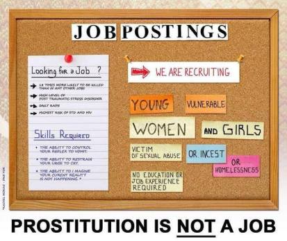 Prostitution is not a job