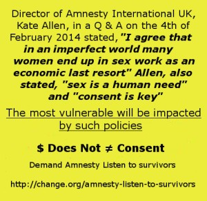 Amnesty money does not equal consent