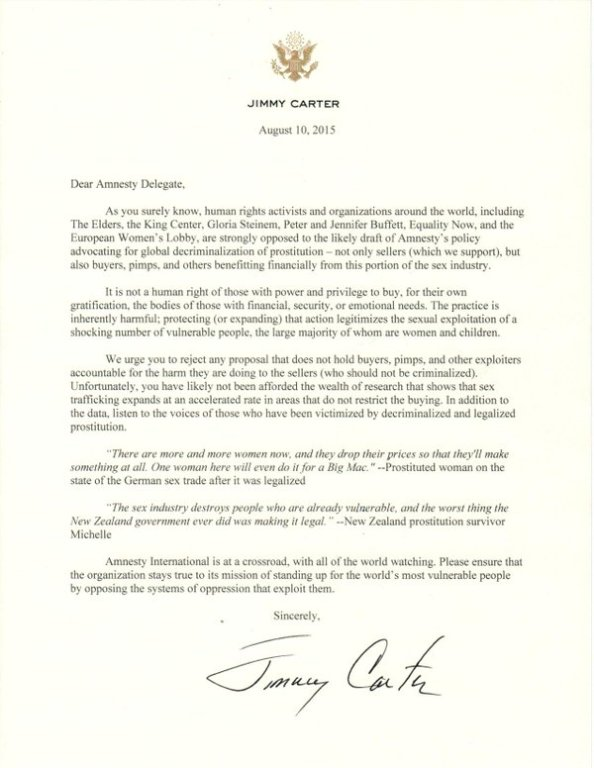 jimmy carter letter
